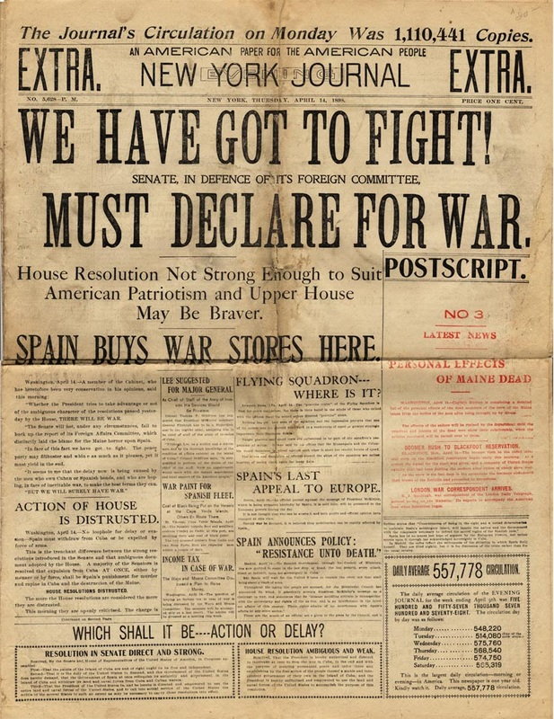 yellow journalism essay spanish american war