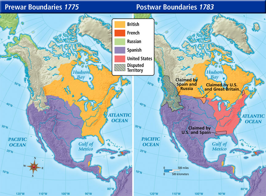 Essential Unit Maps AP US History - Southern us border map befor 1776